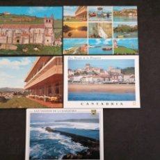 Postales: SAN VICENTE DE LA BARQUERA , CANTABRIA. LOTE DE 5 POSTALES. Lote 199747208