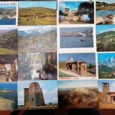 Postales: CANTABRIA, VARIAS LOCALIDADES. LOTE DE 27 POSTALES. Lote 199759143
