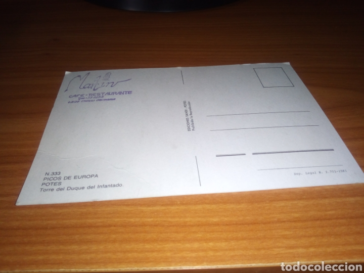 Postales: Antigua postal Potes (Cantabria). Picos de Europa sello publicidad por detrás del Restaurante Martín - Foto 2 - 199943511