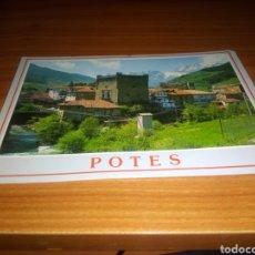Postales: ANTIGUA POSTAL POTES (CANTABRIA). PICOS DE EUROPA SELLO PUBLICIDAD POR DETRÁS DEL RESTAURANTE MARTÍN. Lote 199943511