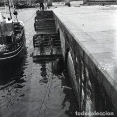 Postales: NEGATIVO ESPAÑA CANTABRIA SAN VICENTE DE LA BARQUERA 1970 55MM GRAN FORMATO NEGATIVE SANTANDER. Lote 200113032