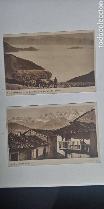 LOTE 2 POSTALES PICOS DE EUROPA POTES Y VALLE DE LIEBANA (Postales - España - Cantabria Antigua (hasta 1.939))
