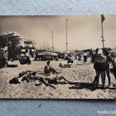 Postales: SANTANDER. PLAYA DE LA MAGDALENA. FRANQUEADA EL 12 DE SEPTIEMBRE DE 1960.. Lote 200735686