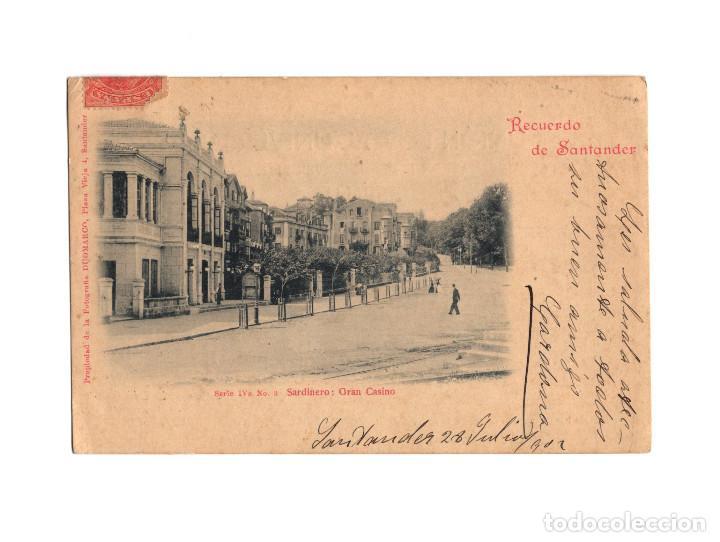 SANTANDER.(CANTABRIA).- RECUERDO DE SANTADER. SERIE IV. SARDINERO GRAN CASINO. DOUMARCO. Nº3. (Postales - España - Cantabria Antigua (hasta 1.939))