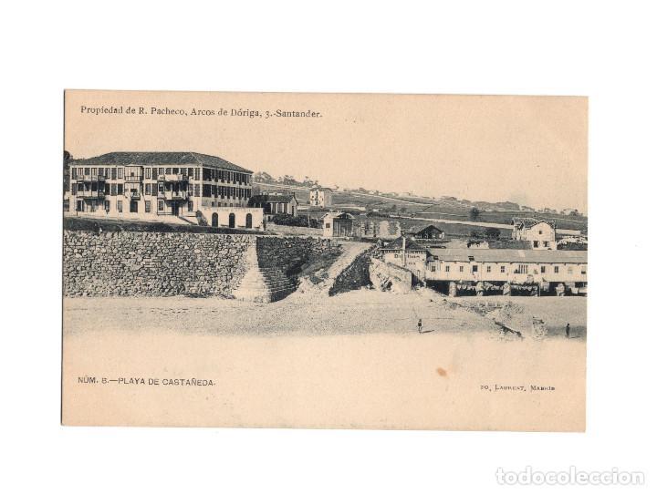 SANTANDER.(CANTABRIA).- PLAYA DE CASTAÑEDA. (Postales - España - Cantabria Antigua (hasta 1.939))