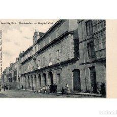 Postales: SANTANDER.(CANTABRIA).- HOSPITAL CIVIL.. Lote 201356188