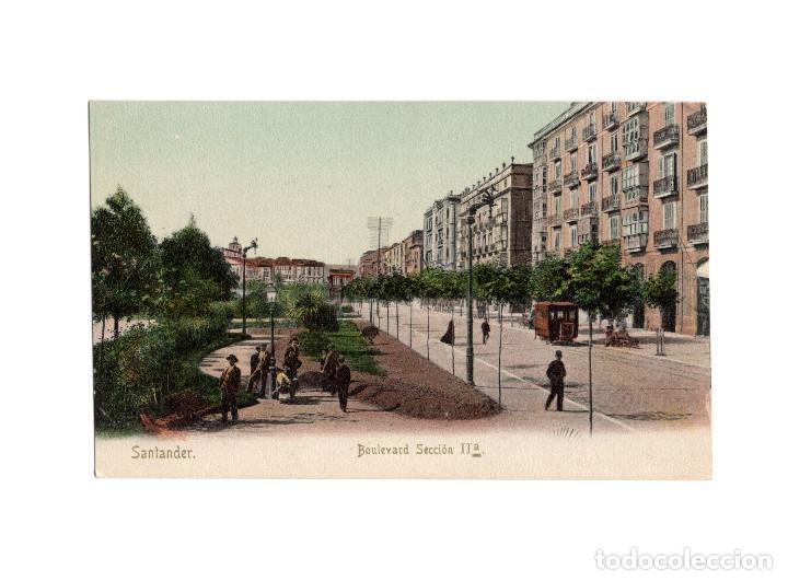 SANTANDER.(CANTABRIA).- BOULEVARD SECCIÓN IIª. (Postales - España - Cantabria Antigua (hasta 1.939))