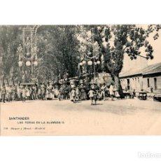 Postales: SANTANDER.(CANTABRIA).- LA FERIA EN LA ALAMEDA II.. Lote 201365798