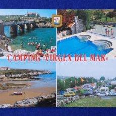Postales: CAMPING VÍRGEN DEL MAR. SAN ROMÁN DE LA LLANILLA. CANTABRIA. Nº2665. ESCUDO DE ORO. ESCRITA. Lote 204259396