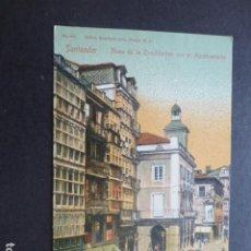 Postales: SANTANDER PLAZA DE LA CONSTITUCION CON EL AYUNTAMIENTO. Lote 204280195