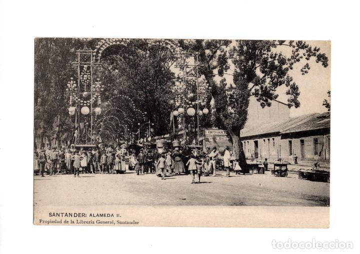 SANTANDER.(CANTABRIA).- LA FERIA EN LA ALAMEDA II. (Postales - España - Cantabria Antigua (hasta 1.939))