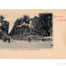 Postales: SANTANDER.(CANTABRIA).- RECUERDO DE SANTANDER.SARDINERO. ALAMEDA DE CACHO, SERIE IVª Nº. 2, DUOMARCO. Lote 204507076