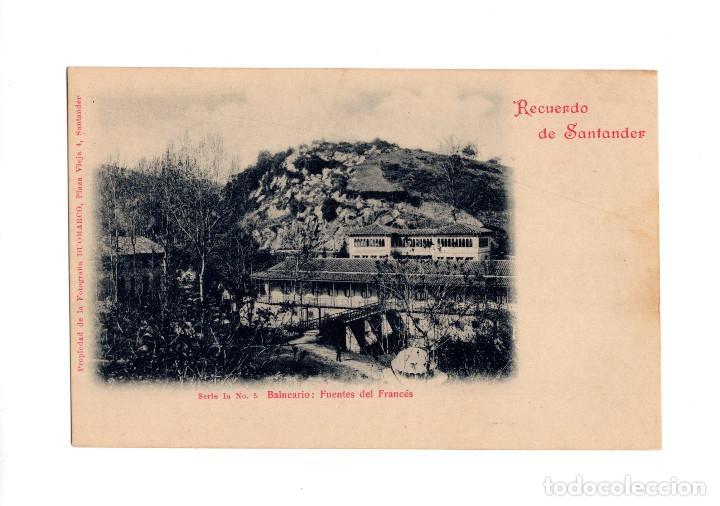 SANTANDER.(CANTABRIA).- RECUERDO DE SANTADER. SERIE Iª. Nº5.BALNEARIO FUENTES DEL FRANCÉS. DOUMARCO. (Postales - España - Cantabria Antigua (hasta 1.939))