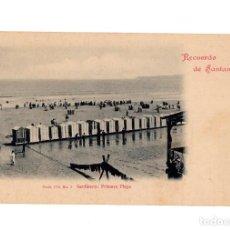 Postales: SANTANDER.(CANTABRIA).- RECUERDO DE SANTANDER, SARDINERO: PRIMERA PLAYA, SERIE IVª Nº 5, DUOMARCO. Lote 204509492