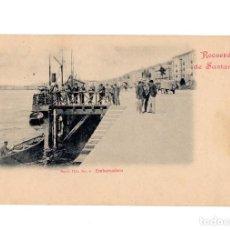 Postales: SANTANDER.(CANTABRIA).- RECUERDO DE SANTANDER, EMBARCADERO, SERIE IIIª Nº 6, DUOMARCO. Lote 204509803