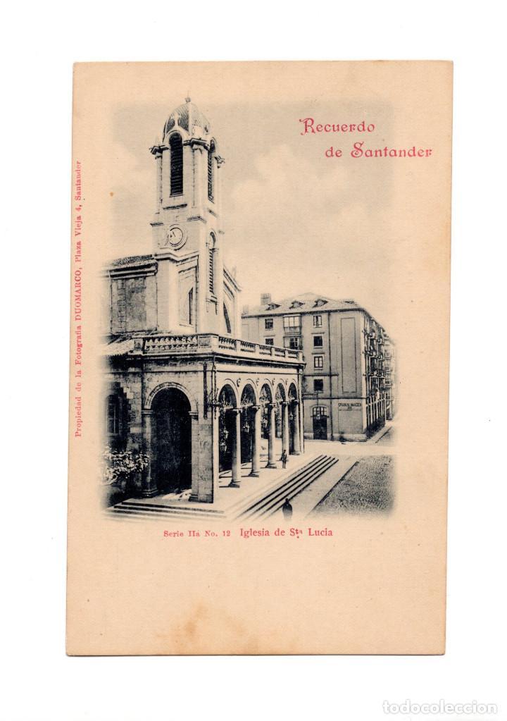 SANTANDER.(CANTABRIA).- RECUERDO DE SANTANDER, SERIE IIª Nº 6, IGLESIA DE SANTA LUCÍA. DUOMARCO (Postales - España - Cantabria Antigua (hasta 1.939))