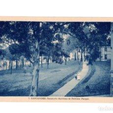 Postales: SANTANDER.(CANTABRIA).- SANATORIO MARÍTIMO DE PEDROSA.- PARQUE.. Lote 204512408