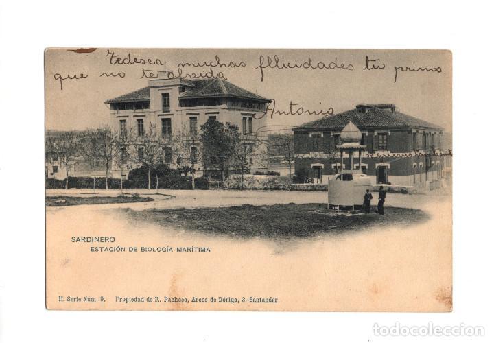 SANTANDER.(CANTABRIA).- ESTACIÓN DE BIOLOGÍA MARÍTIMA. (Postales - España - Cantabria Antigua (hasta 1.939))