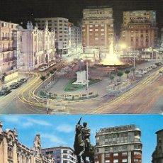 Postales: SANTANDER - PLAZA DEL GENERALÍISIMO-MONUMENTO AL CAUDILLO. Lote 204983795