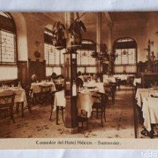 Postales: POSTAL. COMEDOR DEL HOTEL MÉXICO. SANTANDER.. Lote 206511391