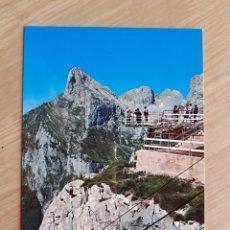 Postales: TARJETA POSTAL - PICOS DE EUROPA - MIRADOR DE EL CABLE SOBRE UN VACIO DE CIENTOS DE METROS № 219. Lote 206869206