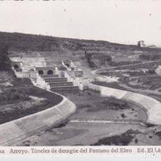 Postales: REINOSA (CANTABRIA ) - ARROYO - TUNELES DE DESAGUE DEL PANTANO DEL EBRO. Lote 207578490
