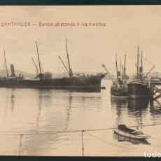 Postales: SANTANDER. BARCOS ATRACANDO A LOS MUELLES. Nº 1369. FOTPIA. CASTIÑEIRA, ÁLVAREZ Y LEVENFELD. Lote 207645396