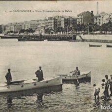 Postales: SANTANDER, CANTABRIA. VISTA PANORÁMICA DE LA BAHÍA, Nº 15. ED. M.N. MANUSCRITA 1913. Lote 209629296