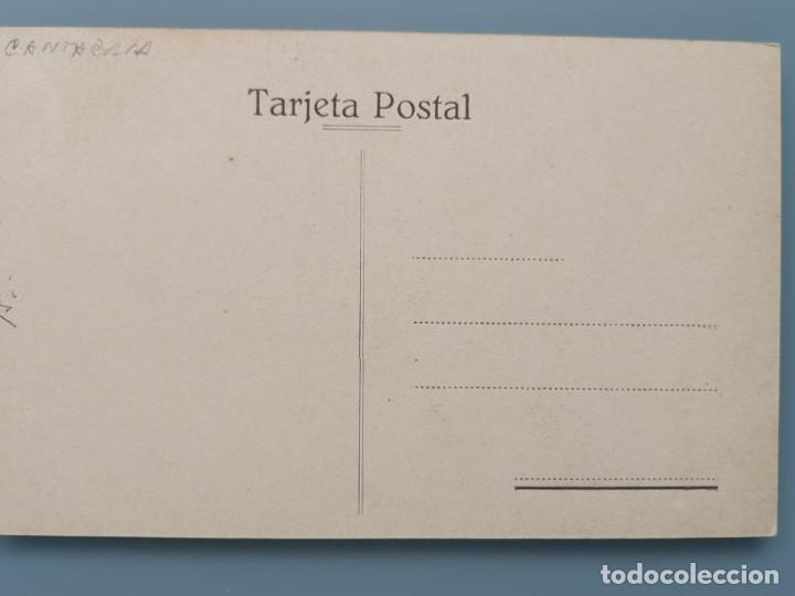 Postales: POSTAL CANTABRIA CUEVA DE ALTAMIRA ENTRADA Y OBELISCO EN HONOR DE SANTUOLA SANTANDER PERFECTA CONSER - Foto 2 - 210108897