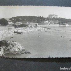 Postales: SANTANDER-PLAYA Y PALACIO DE LA MAGDALENA-ARCHIVO ROISIN-FOTOGRAFICA-POSTAL ANTIGUA-(72.403). Lote 210602670