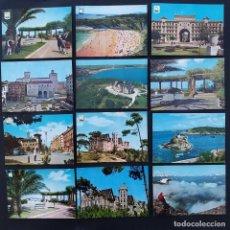 Postales: LOTE 20 ANTIGUAS POSTALES SANTANDER. PALACIO DE LA MAGDALENA, PLAYA, PIQUIO, AÑOS 60-70. Lote 210688182