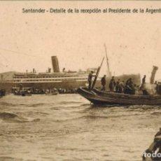 Postales: SANTANDER. DETALLE DE LA RECEPCIÓN AL PRESIDENTE DE ARGENTINA, SR ALVEAR. ED PAPELERÍA EL ESCRITORIO. Lote 210795102
