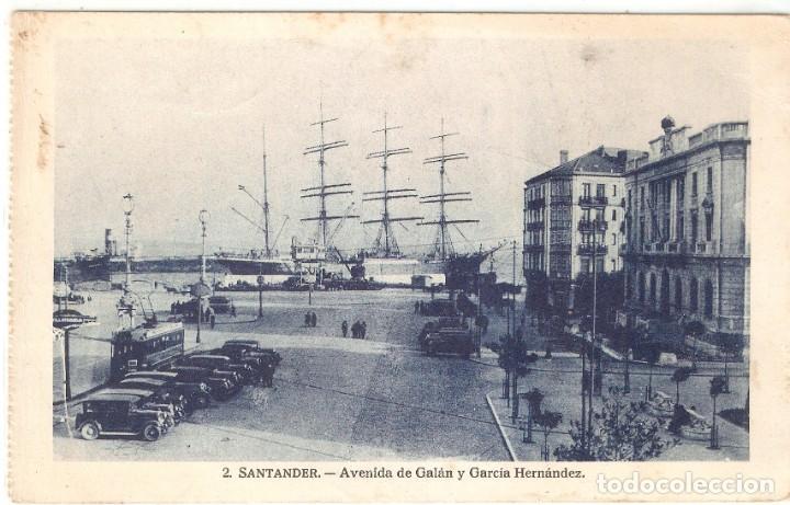 SANTANDER Nº2 AVDA, DE GALÁN .. A.H.E. CIRC. EN 1935 (Postales - España - Cantabria Antigua (hasta 1.939))
