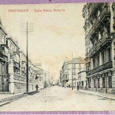Postales: ANTIGUA POSTAL DE SANTANDER - CALLE REINA VICTORIA. FOTOTIPIA CASTIÑEIRA Y ÁLVAREZ SIN CIRCULAR. Lote 211930528