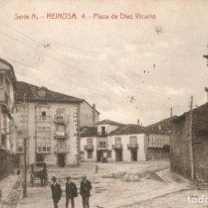 Postales: REINOSA Nº 4 - PLAZA DE DIEZ VICARIO ARSELI CIR. EN 1916. Lote 211954401