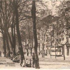 Postales: SANTANDER - CALLE DE BURGOS Y ALAMEDA.. C. FUERTES S.C.. Lote 211967055