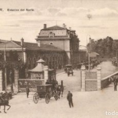 Postales: SANTANDER - ESTACIÓN DEL NORTE CASA FUERTES C.1913. Lote 211969383