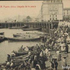 Postales: SANTANDER, CANTABRIA. Nº 7, PUERTO CHICO, LLEGADA DE LA PESCA. Nº 5029 FTPIA THOMAS. MANUSCRITA 1922. Lote 211971875