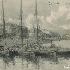 Postales: SANTANDER, CANTABRIA. BARCOS DE PESCA. COLEC. LIBRERÍA GENERAL. CIRCULADA 1909. Lote 212296611