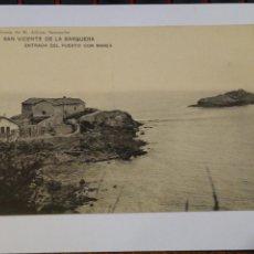 Postales: LIBRERÍA ALBIRA. SAN VICENTE DE LA BARQUERA. ENTRADA DEL PUERTO CON MAREA. SIN CIRCULAR. Lote 212400867