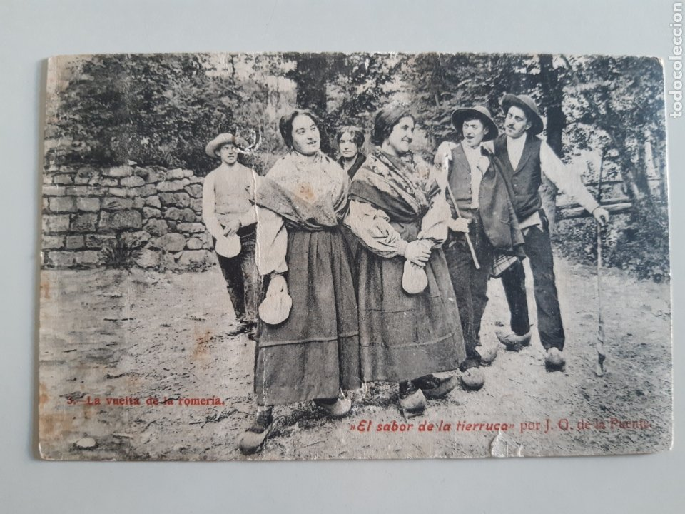POSTAL SANTANDER LA VUELTA DE LA ROMERÍA EL SABOR DE LA TIERRUCA DE LA PUENTE J LACOSTE (Postales - España - Cantabria Antigua (hasta 1.939))