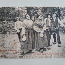 Postales: POSTAL SANTANDER LA VUELTA DE LA ROMERÍA EL SABOR DE LA TIERRUCA DE LA PUENTE J LACOSTE. Lote 213219018