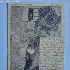 Postales: POSTAL COSTUMBRISTA CANTABRIA PEÑAS ARRIBA.COLECCION G. DE LA PUENTE. SERIE E. NUM 4 MATASELLADA1903. Lote 213231600