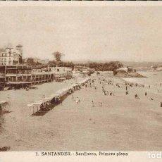 Postales: SANTANDER. Nº 1, SARDINERO, PRIMERA PLAYA.. Lote 213743436