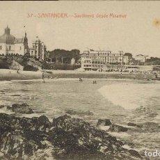 Postales: SANTANDER. Nº 37, SARDINERO DESDE MIRAMAR.. Lote 213743458