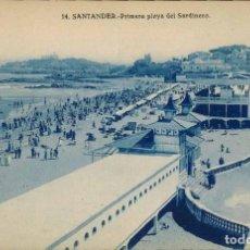 Postales: SANTANDER. Nº 14, PRIMERA PLAYA DEL SARDINERO.. Lote 213743482