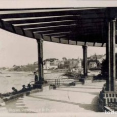 Postales: SANTANDER. Nº 4, PIQUIO, PÉRGOLA Y PLAYA. FOTOGRÁFICA. CIRCULADA 1935.. Lote 213743622