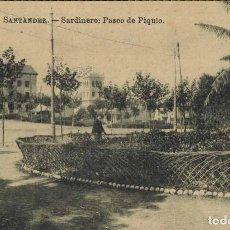 Postales: SANTANDER. SARDINERO, PASEO DE PIQUIO. EDIT. JULIO PALACIOS.. Lote 213743651