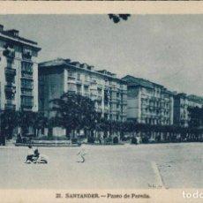 Postales: SANTANDER. Nº 21, PASEO DE PEREDA. HELIOTIPIA ARTÍSTICA ESPAÑOLA.. Lote 213744222