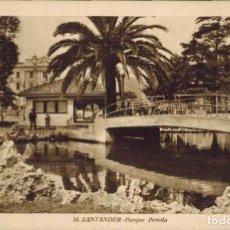 Postales: SANTANDER. Nº 34, PARQUE PEREDA. FOT. L.ROISIN. Lote 213744260
